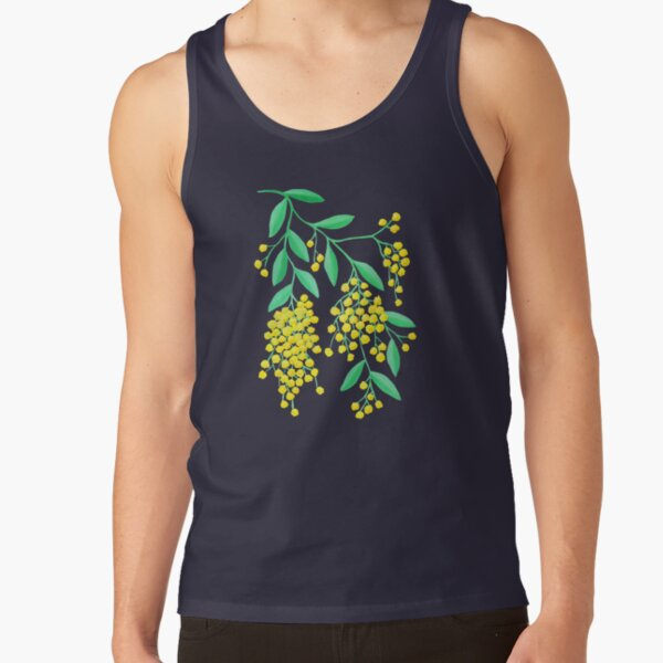 Golden Wattle - Navy Tank Top
