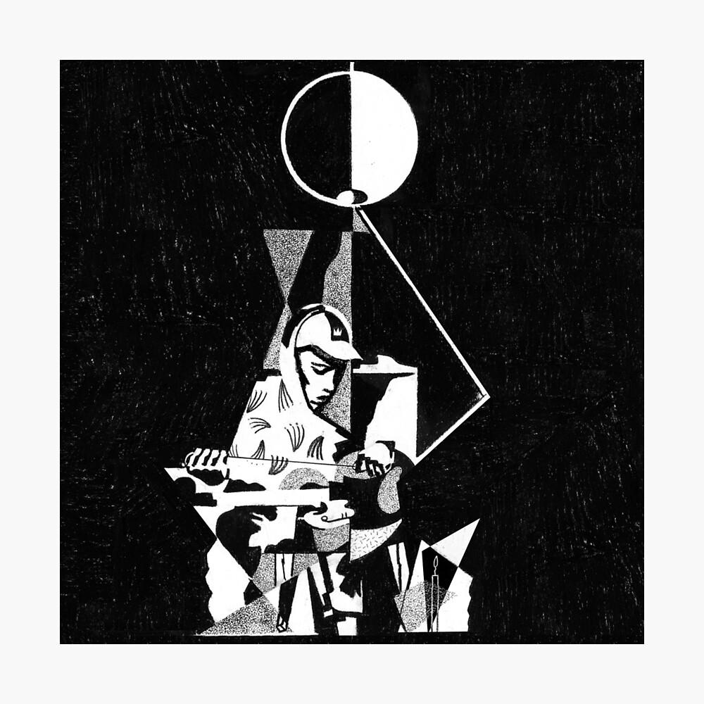 König Krule 6 Fuß unter dem Mond Kunst Fotodruck