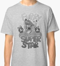 FURRY SUPERSTAR - grayscale Classic T-Shirt