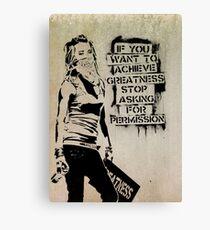 Banksy, greatness Canvas Print