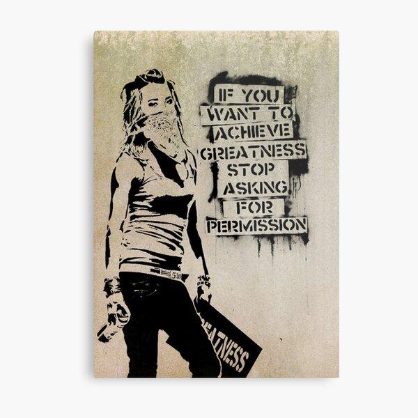 Banksy, greatness Metal Print