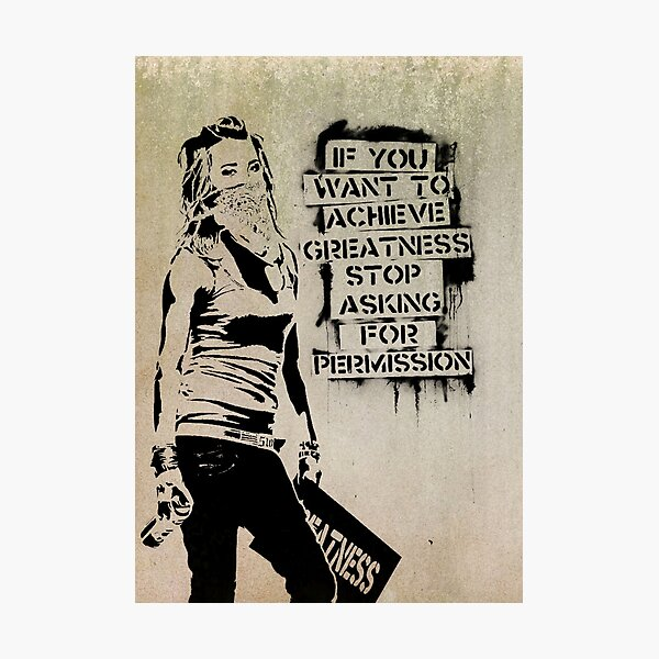 Landscape Banksy Quotes Lifestyle Is Out of Stock Poster Prints Wall Decoration