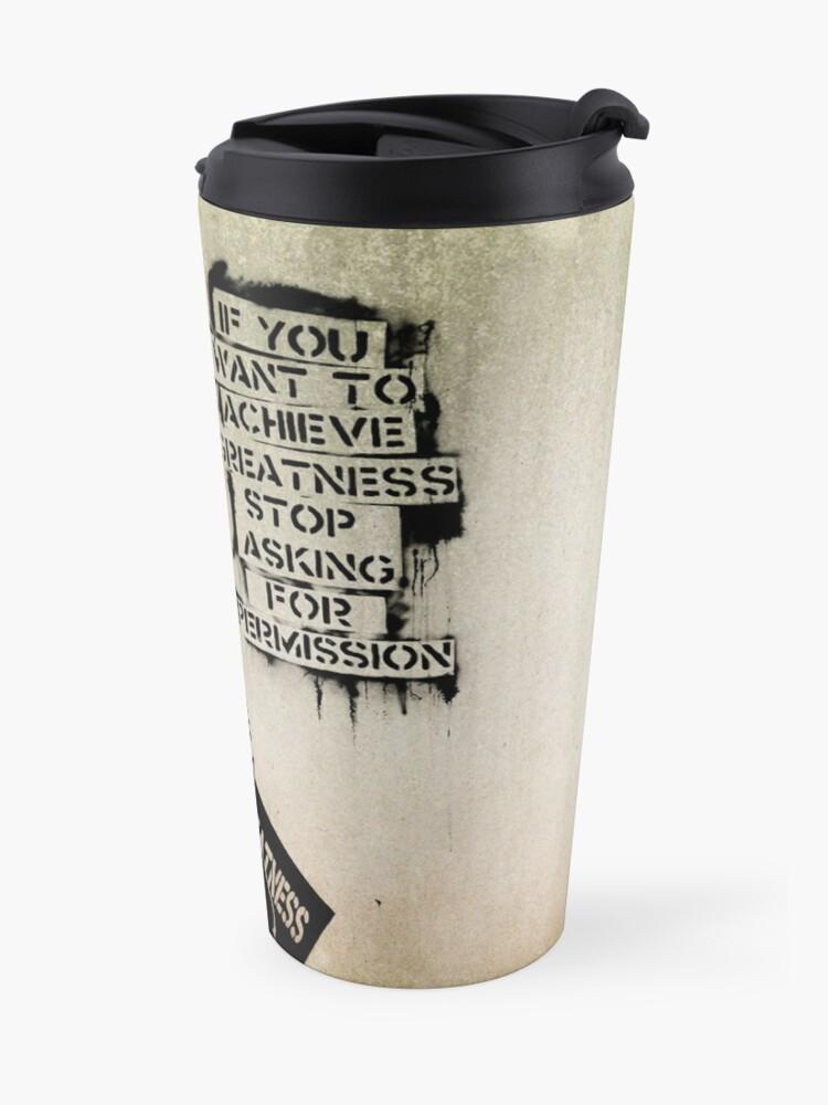 Alternate view of Banksy, greatness Travel Mug
