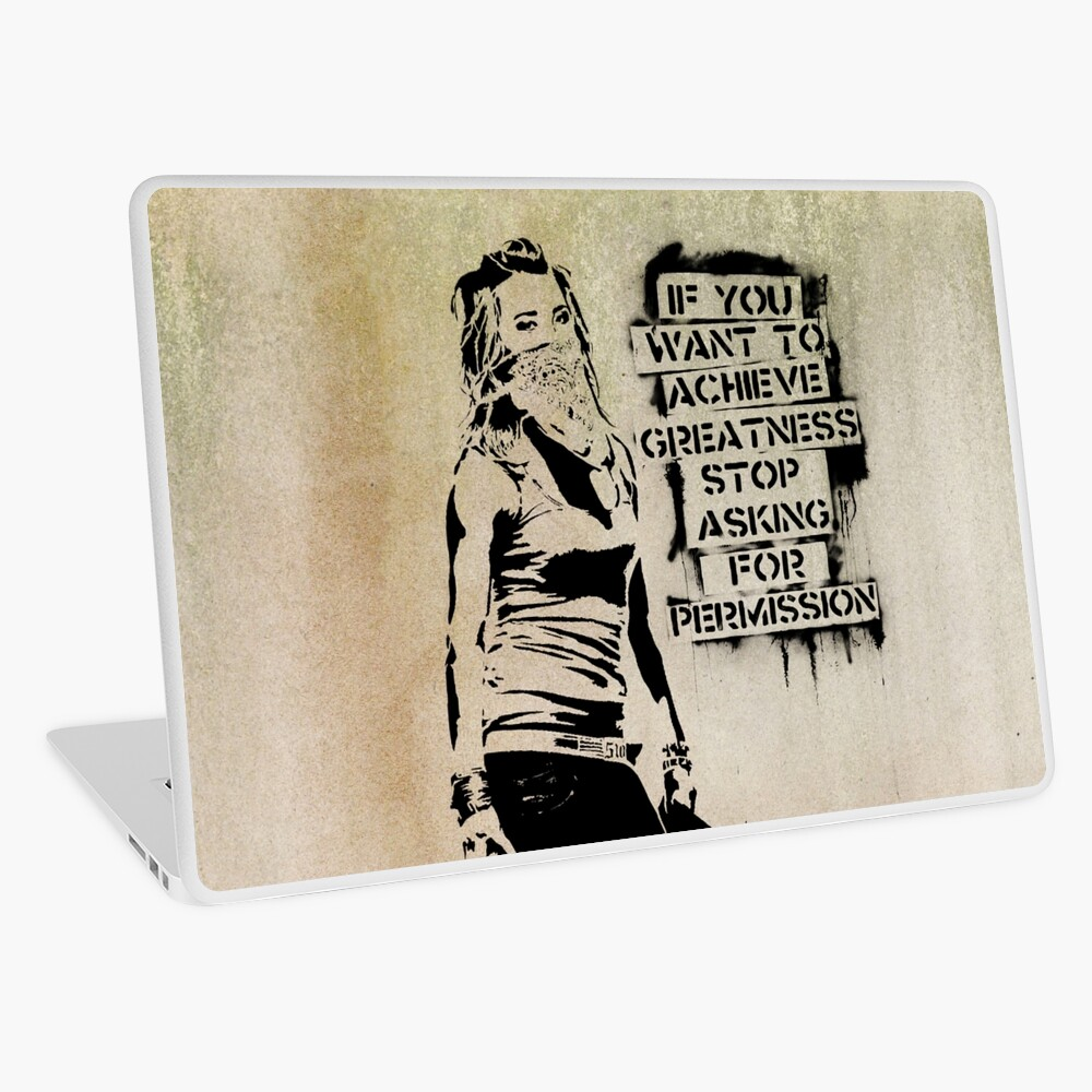 Banksy, greatness Laptop Skin