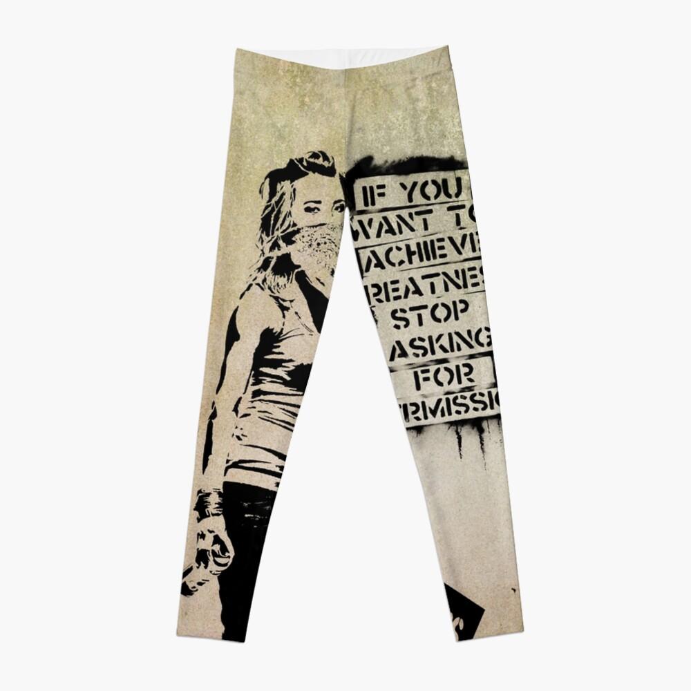 Banksy, greatness Leggings