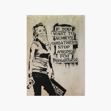 Banksy, greatness Art Board Print