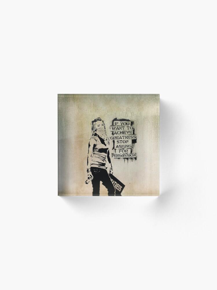 Alternate view of Banksy, greatness Acrylic Block