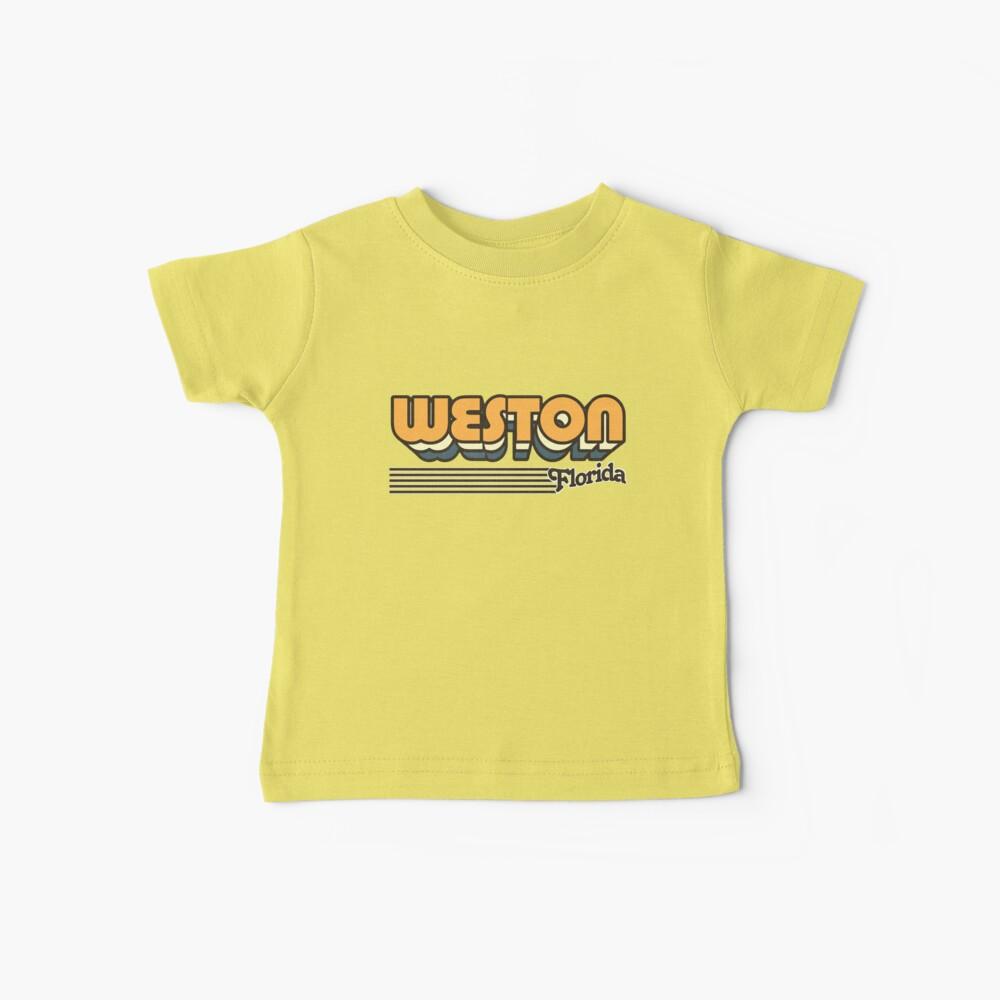 Weston, Florida | Retro Streifen Baby T-Shirt