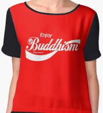 Enjoy Buddhism Chiffon Top