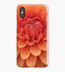 Dahlia details in orange iPhone Case/Skin