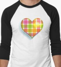 Colorful  Heart Men's Baseball ¾ T-Shirt