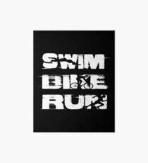 Swim, Bike, Run- Triathlon Art Board