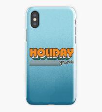 Holiday, Florida | Retro Stripes iPhone Case/Skin