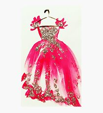Pink Pretty Princess Gown Photographic Print