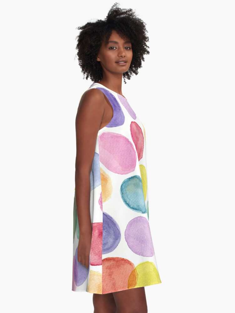 Alternate view of impulsive dots A-Line Dress