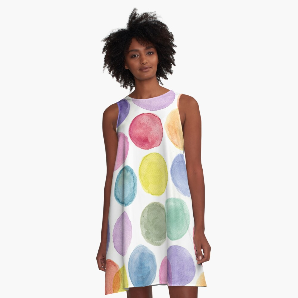 impulsive dots A-Line Dress