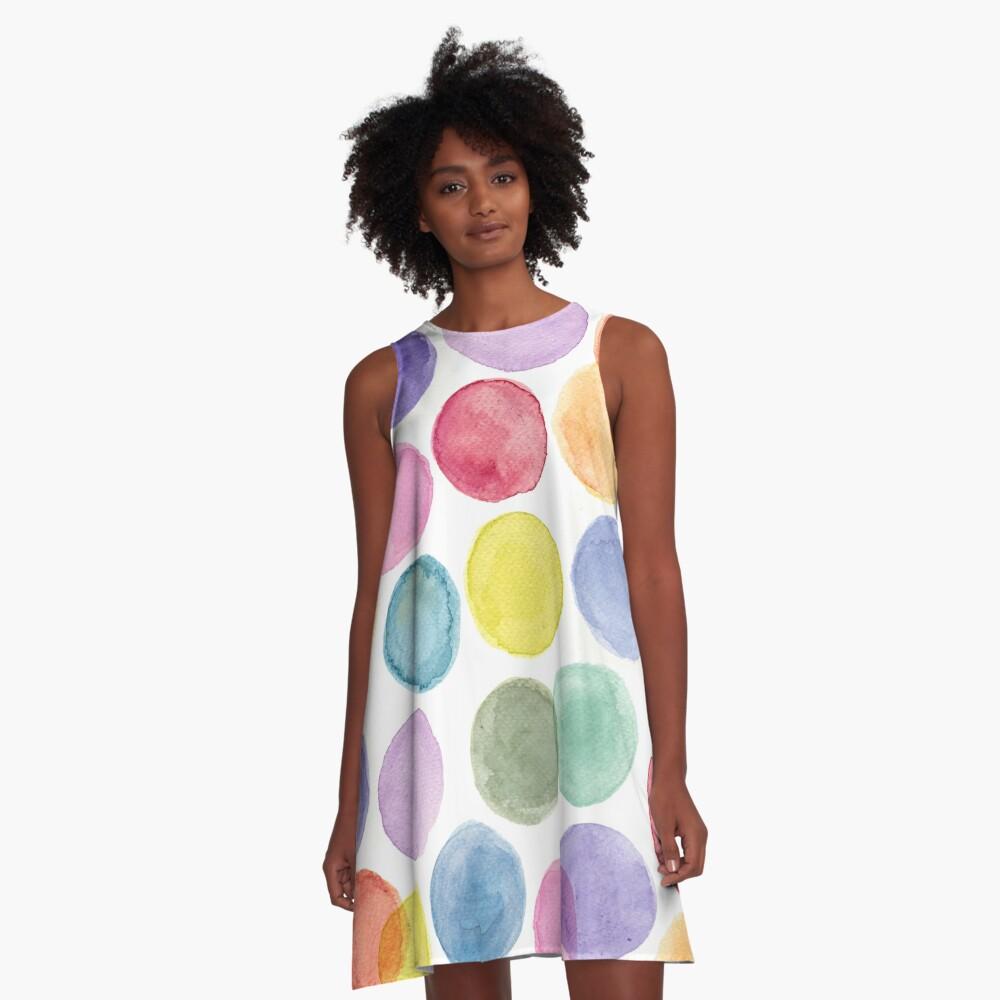 impulsive dots A-Line Dress Front