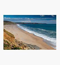 Porthleven Cornwall   Loe Bar Photographic Print