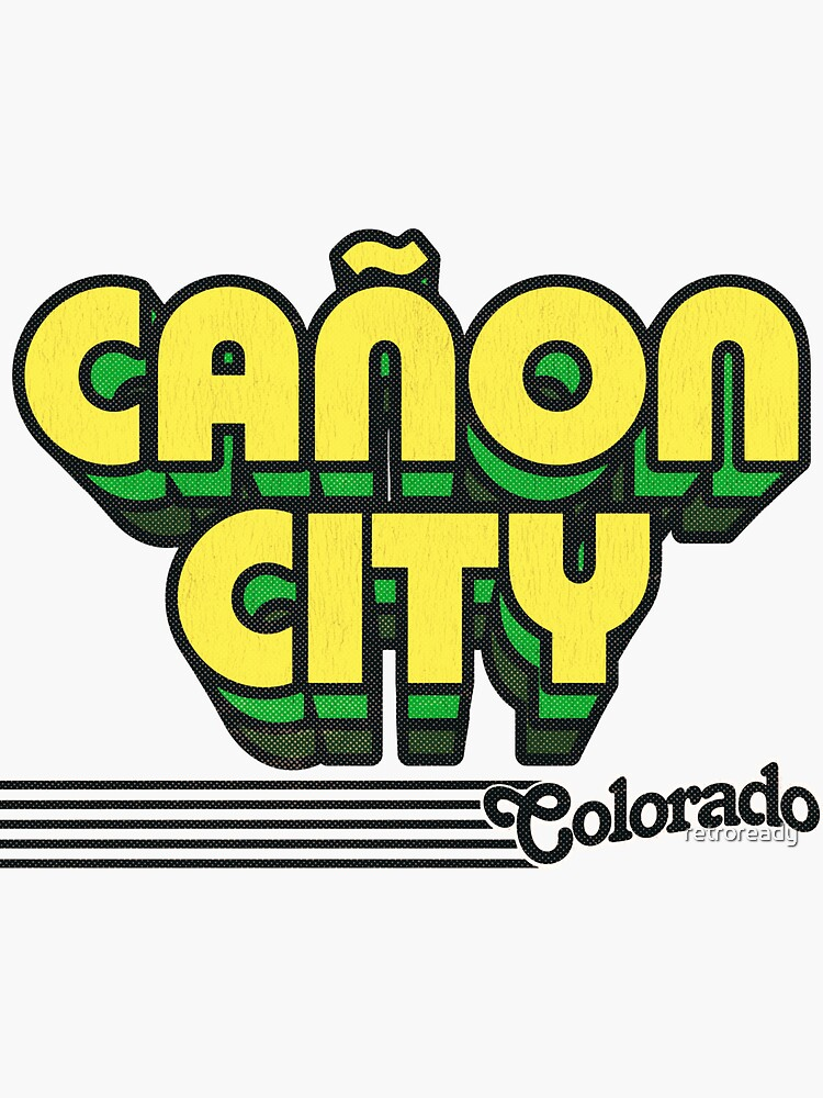 Cañon City, Colorado   Retro Stripes by retroready