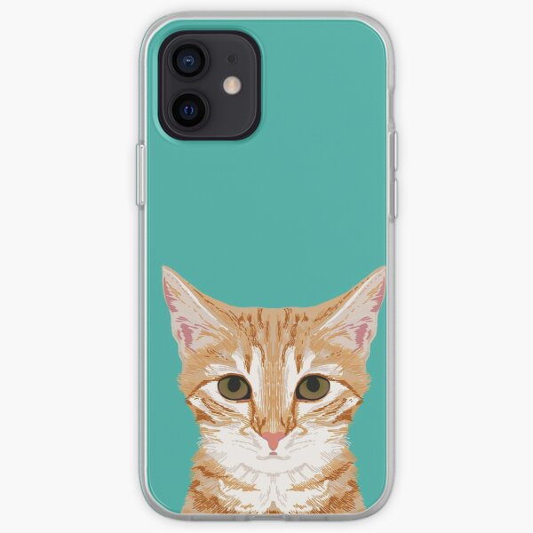 Tabby orange cat head cat breed gifts cute tabby cats must haves iPhone Soft Case