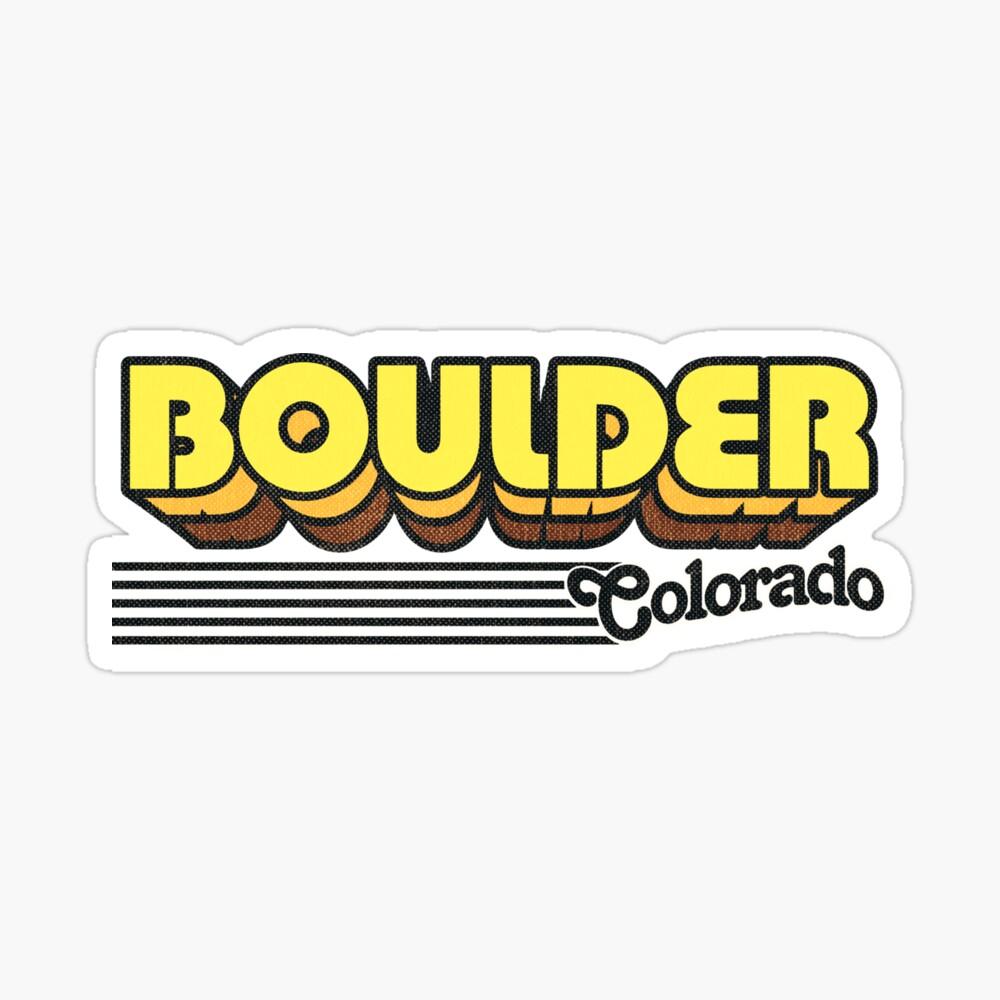Boulder, Colorado | Retro Stripes Sticker