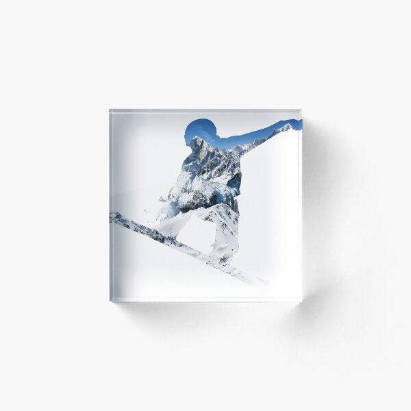 Snowboard  Acrylic Block