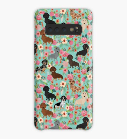 Dachshund floral dog breed pet patterns doxie dachsie gifts must haves Case/Skin for Samsung Galaxy