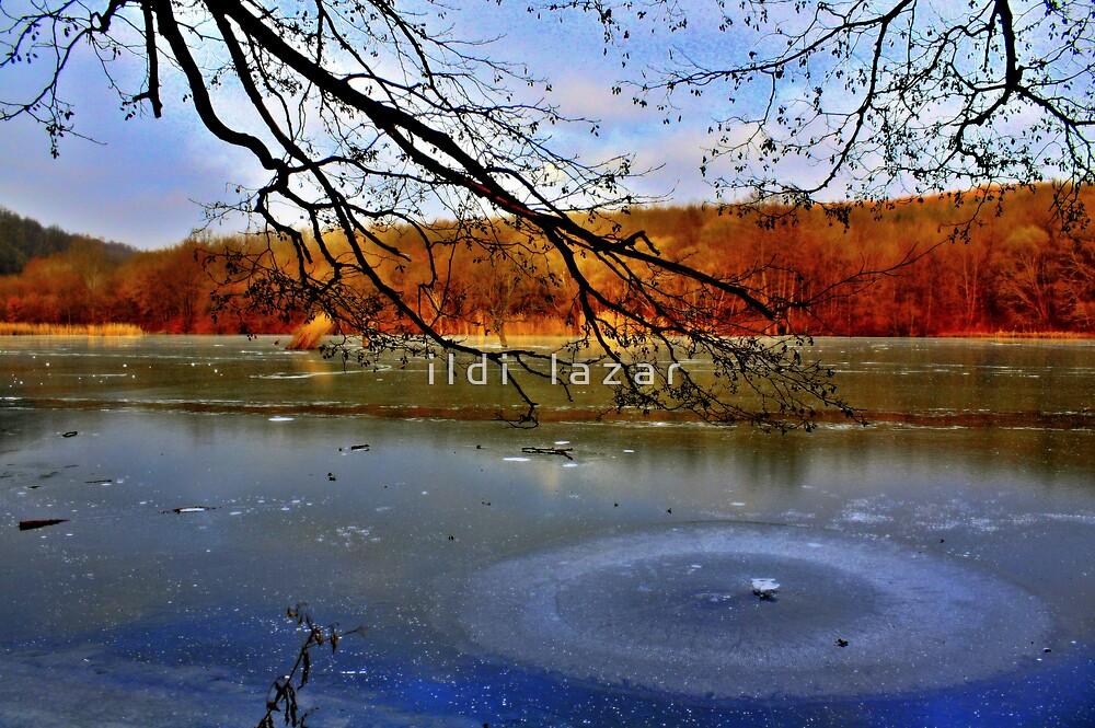 Wintry lake by i l d i    l a z a r