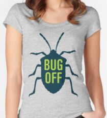 Entomology Bug Off Women's Fitted Scoop T-Shirt