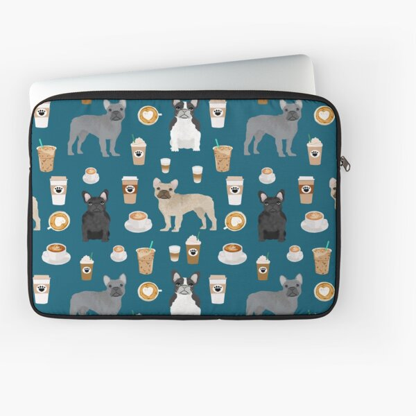 French Bulldog coffee pupuccino dog breed gifts frenchies must haves Laptop Sleeve
