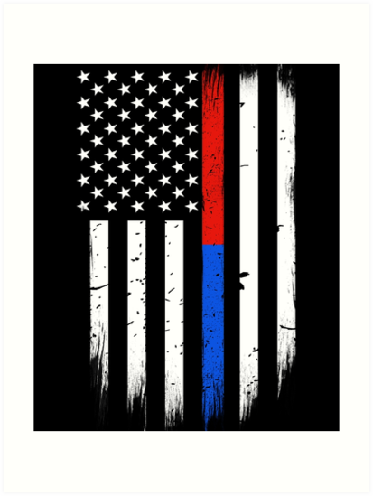 First Responders Thin Red Blue Line Flag