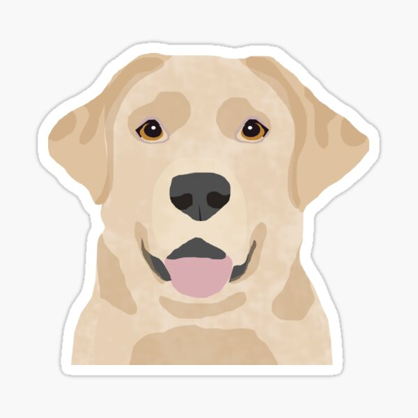 Labrador Retriever golden retriever yellow lab dog breed gifts Sticker