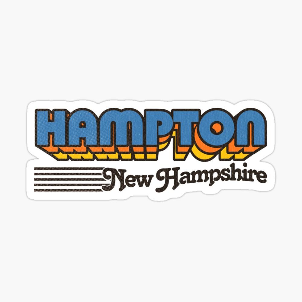 Hampton, New Hampshire   Retro Stripes Sticker