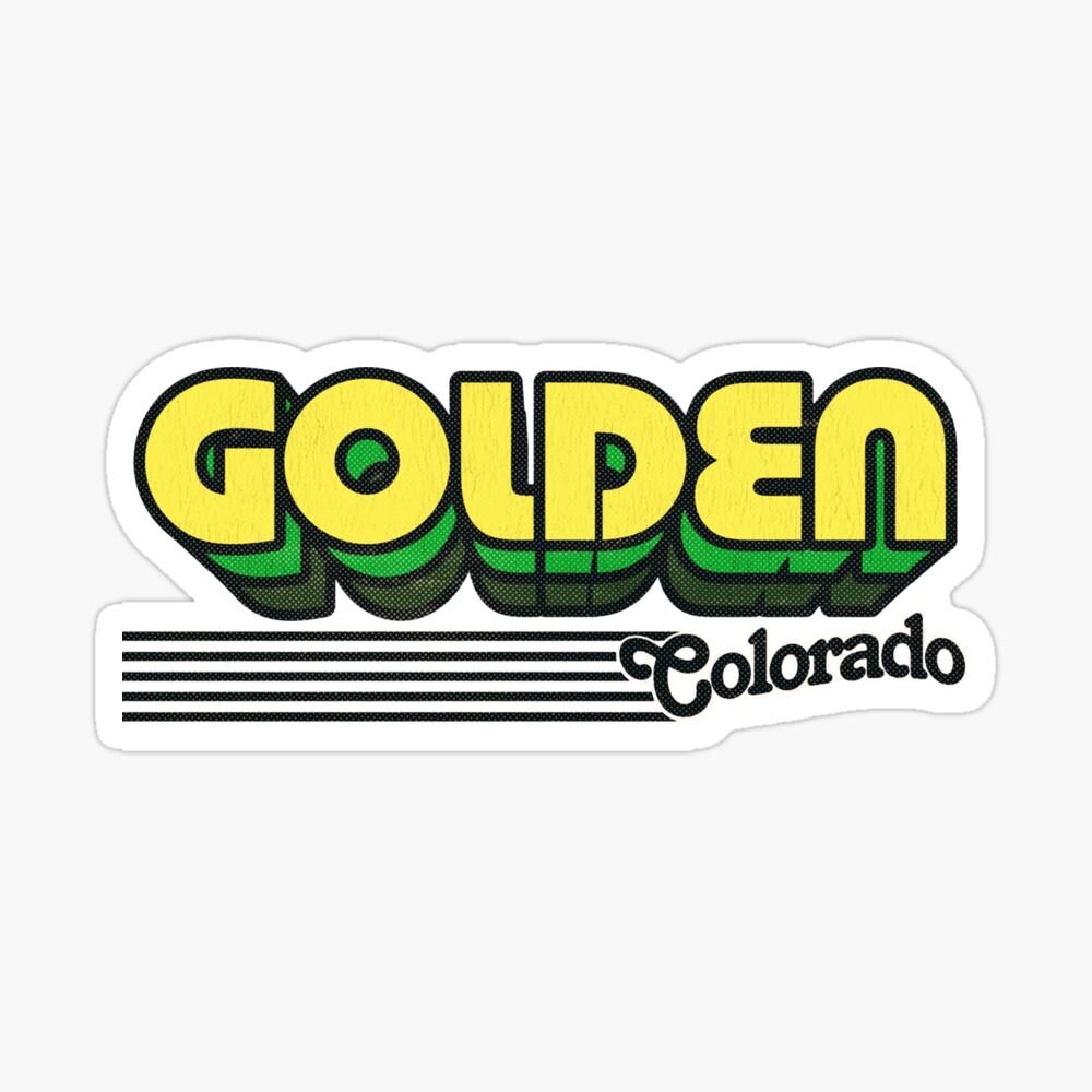 Golden, Colorado | Retro Stripes Sticker