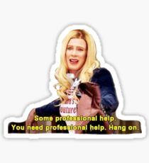 White Chicks You need professional help Sticker