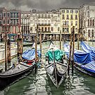 Rainy day on The Grand Canal in Venice by Brian Tarr