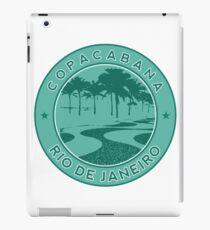Copacabana beach, green circle, Rio de Janeiro, Brazil iPad Case/Skin
