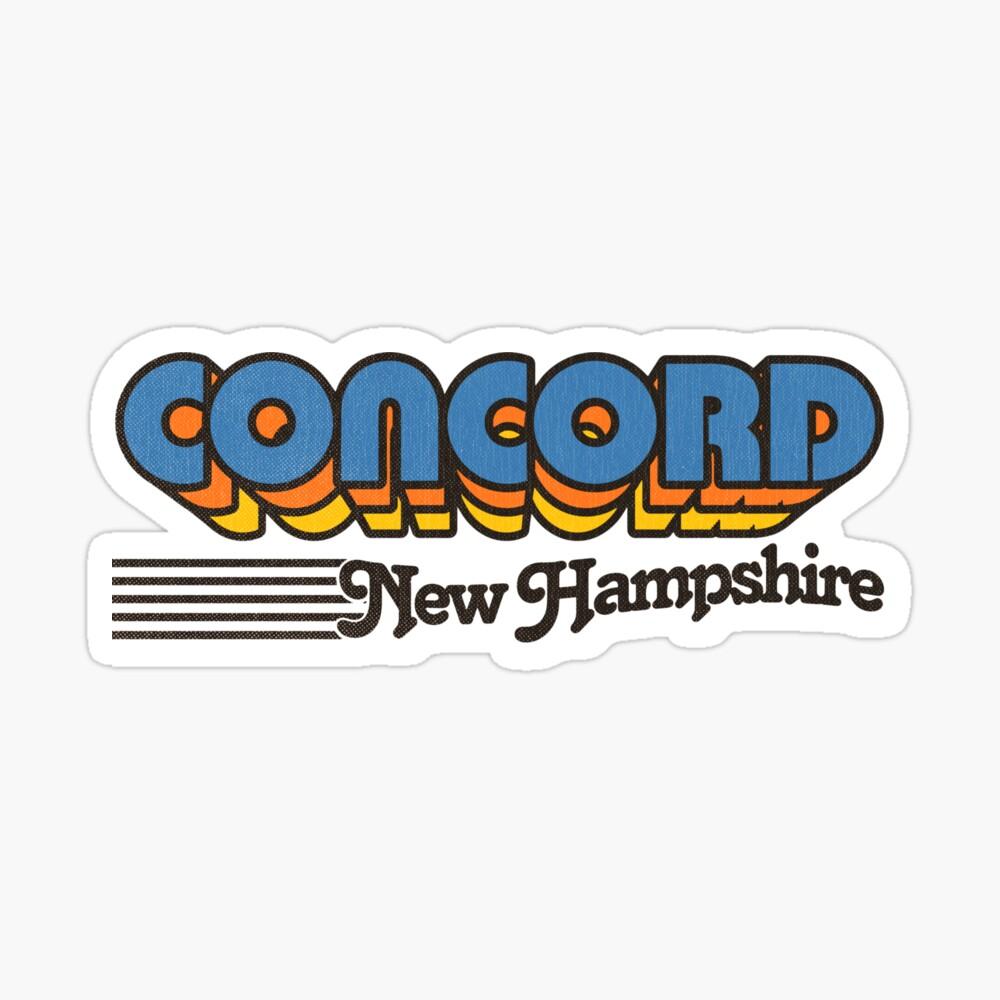 Concord, New Hampshire   Retro Stripes Sticker