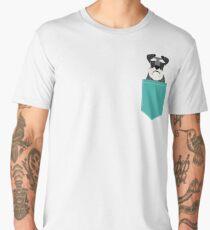 Camiseta premium para hombre Regalos lindos de la cabeza de perro del Schnauzer para los amantes de los schnauzers arte de la raza del perro
