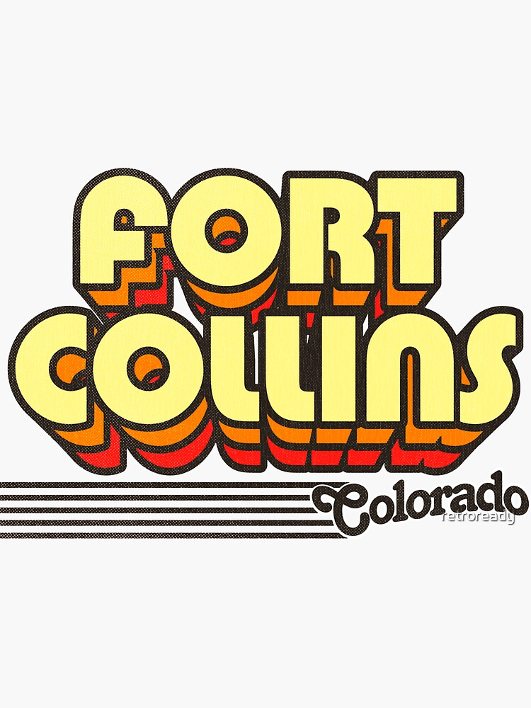 Fort Collins, Colorado | Retro Stripes by retroready
