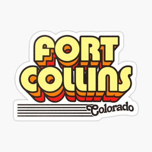 Fort Collins, Colorado   Retro Stripes Sticker