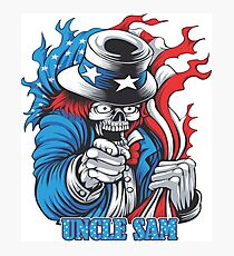 Uncle Sam - Modern Design - Many Colors Photographic Print