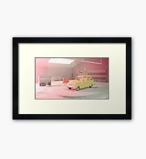 Yellow Automobile Framed Print