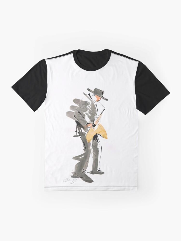 Alternate view of Musician Jazz Saxophone Graphic T-Shirt