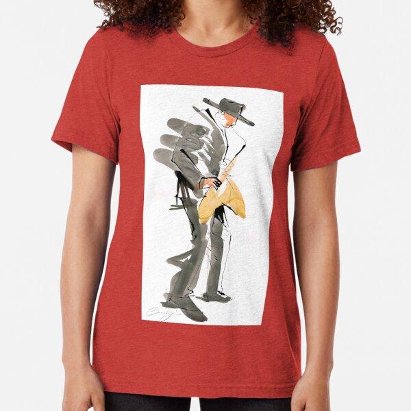 Musician Jazz Saxophone Tri-blend T-Shirt