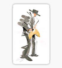 Musician Jazz Saxophone Sticker