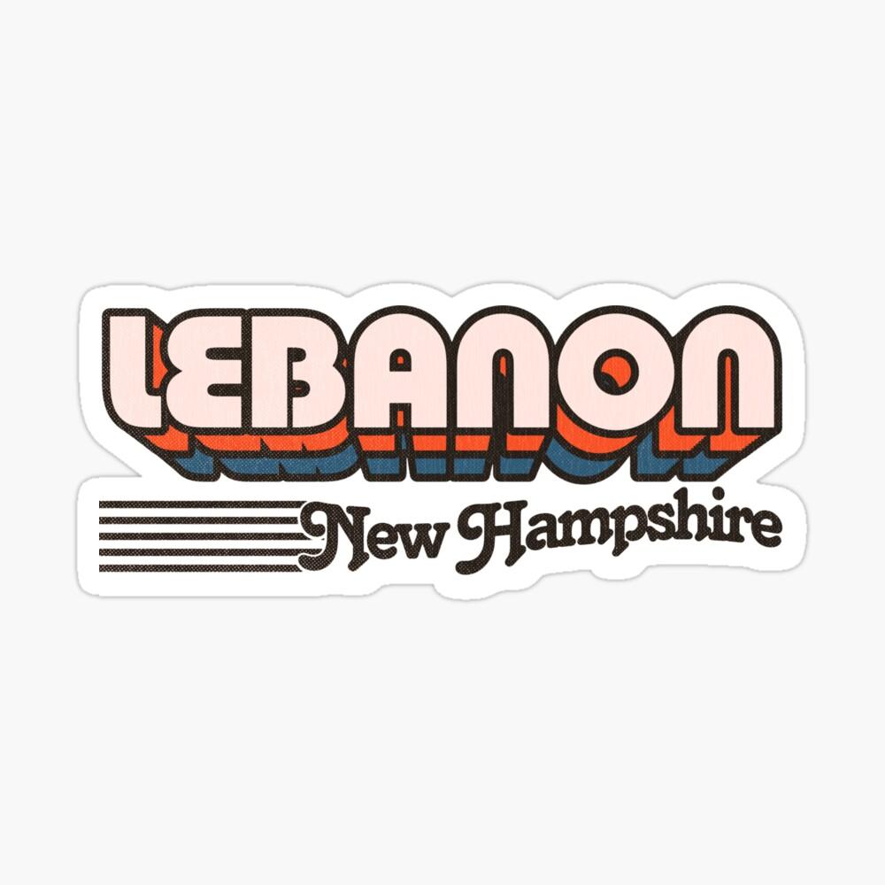 Lebanon, New Hampshire   Retro Stripes Sticker