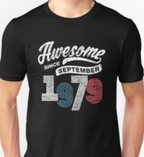 Awesome Since September 1979 Shirt Vintage 39th Birthday Unisex T-Shirt