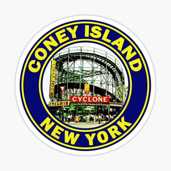 Coney Island New York Cyclone Roller Coaster Vintage Sticker