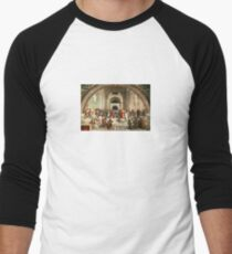 School of Athens but in Space Men's Baseball ¾ T-Shirt